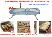 China Cheap AC 110-120V/220-240V Portable Folding Auto Electric Magnetic Thermal therapy Jade Roller Massage Bed for Sale
