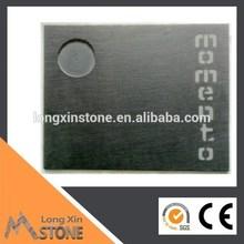 40X30 black slate serving tray with sandblasted logo