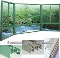 perfil de aluminio de vidrieras y puertas