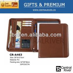 A4 cheap zipper leather document bag cheap leather portfolio document bag hot sale