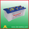 CBB professionally producing 12V150AH lead acid dry charge car battery for starting