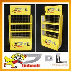Jinbaoli mobile store display, folding metal rack