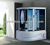 Luxury steam shower room with whirlpool spa tub jetted tub shower combo