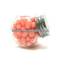 Food grade mini glass candy jar with metal lid