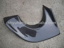 FOR 2006-2007 Mitsubishi Lancer Evolution 9 JM Varis Style Carbon Fiber Exhaust Heatshield (Fits OEM Rear Bumper)