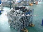 Industrial metal storage mesh bin