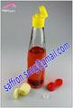 300ml vidro frasco de molho com tampa de plástico