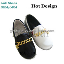 black back to school shoes for children boys loafer shoes