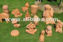 Statue in terracotta - animali terracotta - buddha faccia - accessori - casa&giardinaggio decorazione