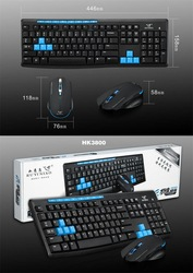 2.4Ghz wireless keyboard and mouse for computer smart TV
