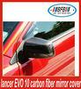 car parts fiber carbon auto mirror cover for Lancer EVO 10