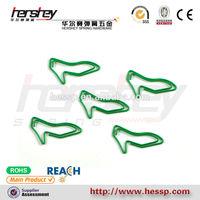 green color high heel shoes shape paper clip