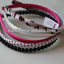 beaded headband hairband set leopard print hair accessories