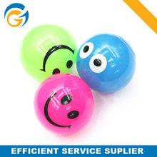 Smile Face TPR Bouncing Ball,Flashing Bouncy Ball