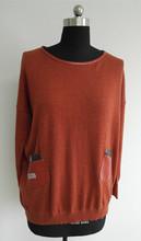 Fashion plain collared pullover sweatshirts