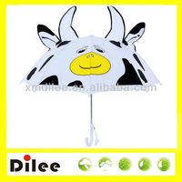 19 inch cute Cow animal shape ears kid umbrella