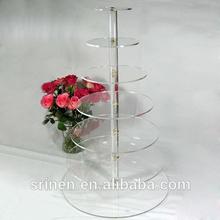 Food Safe 7 Tier Acrylic Wedding Cake Display Stand