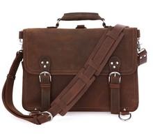 2014 Hot Sale Vintage Crazy Horse Leather Big Men Handbag #7161R