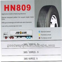 Aeolus brand HN809 385/55R19.5 385/55R2.5 385/65R22.5