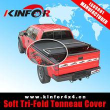 Soft Tri-Fold Tonneau Cover for Chevrolet S-10 CD Year 2012