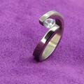 новая модель кристаллический пользовательские качества ювелирных изделий из серебра мода обручальное кольцо