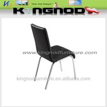 modern chrome leg black dining chair