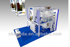 Double deck modular exhibit stand, trade show booth