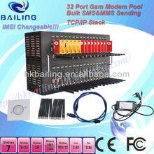High quality cdma wavecom/huawei cdma modem pool 32 pool,800/1900mhz for bulk sms sending