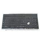 Metal PC Keyboard With Trackball For Internet Kiosk Access,Self-service Terminal,Industrial Control,Medical Device
