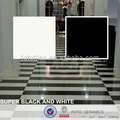 super bianco e nero lucido piastrelle di ceramica di