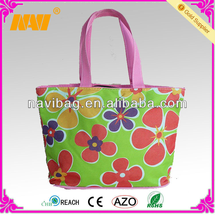 flower printing samll beach bag
