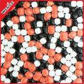 Ronda moda y irregular de color rojo y negro azulejo de mosaico de cristal de guijarros alta calidad y el mejor precio