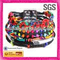 2013 tejidas a mano abrigo de cuero pulsera hippie para los jóvenes