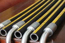 EN 856 4SH multi spiral steel wire reinforced hydraulic rubber hoses/rubber hydraulic hose/hydraulic hose