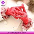 peau de chèvre gants en cuir designer de fourrure de lapin