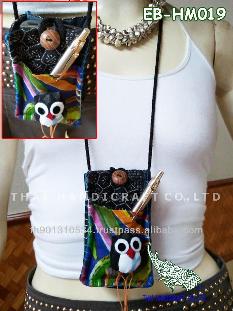 Thai Handmade Owl Call Phone bag Mobile bag