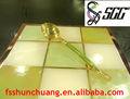De acero inoxidable 18/8 chapado en oro de piedra de colores cuerpo doblado cuchara de mesa para el hogar/buffet/banquete