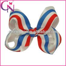Wholesale USA Flag printed Hair Bow Clips Hair Accessories( CNHBW-13081910)