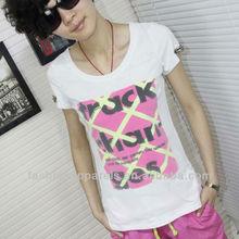 Custom breathable fashion girl's T-shirt