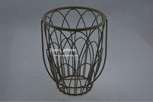 rattan outdoor furniture big antique rolling metal wire basket