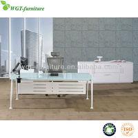 Table top glass modern executive desk