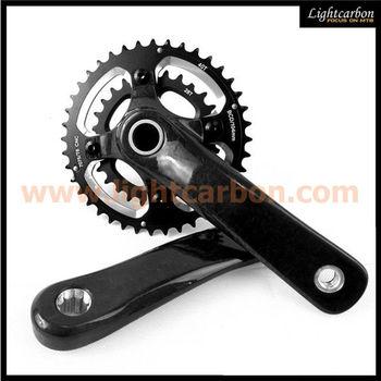 LIGHTCARBON full carbon MTB crankset, carbon bicycle parts paypal, carbon bicycle crank