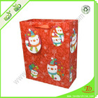 custom printed paper bags no minimum for christmas gift packing, made of various paper