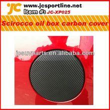 For VW Scirocco carbon fiber fuel tank cover