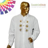 Ethnic clothing - Otavalo Shirt 2 Hand Embroidered 100% Cotton