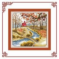 NKF Korean view-Autumn korea cross stitch