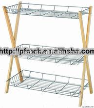 PF-SR189 black walnut wooden shoe rack