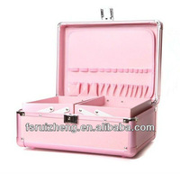 Latest Design cosmetic case, Beauty Lady Makeup Handbag, w/ Extendable trays & Alu Frame, RZ-AN08