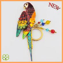 Fashion enamel gold bird brooch