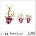 2013 elegant fashion diamond jewelry set S-2090